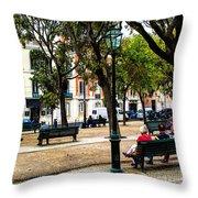 Lisbon High Park Throw Pillow