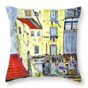 Lisbon Home Painting Throw Pillow