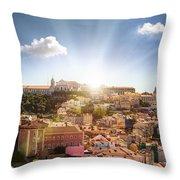 Lisbon Panoramic View To Afama Throw Pillow
