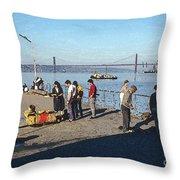 Lisbon Pier 4 Throw Pillow