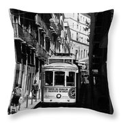 Lisbon Trolley 16b Throw Pillow