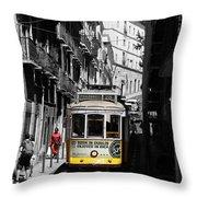 Lisbon Trolley 16c Throw Pillow