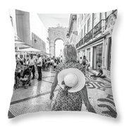 Lisbon Woman Lifestyle Throw Pillow