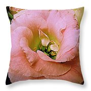 Lisianthus Bloom 2 Throw Pillow