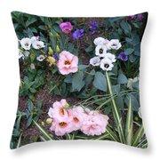 Lisianthus Medley Throw Pillow