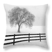 Listen The Snow Is Falling All Around Throw Pillow