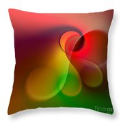 Listen To The Sound Of Colors -1- Throw Pillow by Issabild -