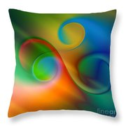 Listen To The Sound Of Colors -2- Throw Pillow by Issabild -