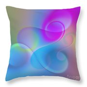 Listen To The Sound Of Colors -3- Throw Pillow by Issabild -