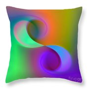 Listen To The Sound Of Colors -4- Throw Pillow
