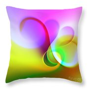 Listen To The Sound Of Colors -5- Throw Pillow
