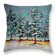 Listen Throw Pillow by Vickie Warner