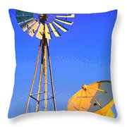 Listening Station Throw Pillow
