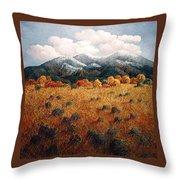 Listening To Mountains Throw Pillow