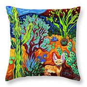 Listening To The Sounds Of The Universe Throw Pillow