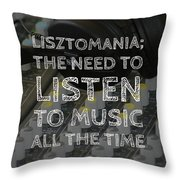 Lisztomania Throw Pillow