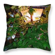 Lit Lamplight Throw Pillow