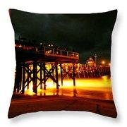Lit Pier Throw Pillow