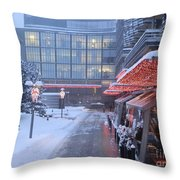 Lit Up With Red Throw Pillow
