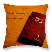 Literalism Throw Pillow