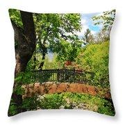 Lithia Park Bridge Throw Pillow