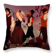 Lithuanian Folk Dance Throw Pillow