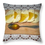 Lithuanian National Food. Cottage Cheese With Honey. Throw Pillow