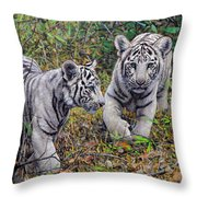 Little And Brave  Throw Pillow