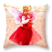 Little Angel Wings Throw Pillow
