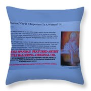 Little Ballerina By Carole Spandau Featured In Award Winning Online Article On Good Posture Mar 2010 Throw Pillow