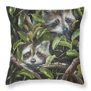 Little Bandits Throw Pillow