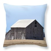 Little Barn On The Prairie  Throw Pillow