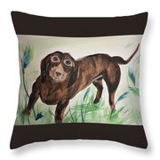 Little Big Man Throw Pillow