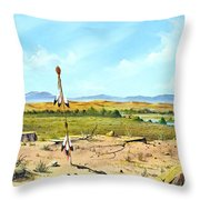 Little Bighorn Throw Pillow