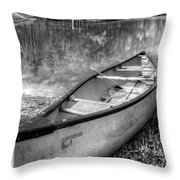 Little Bit Of Heaven Black And White Panorama Throw Pillow