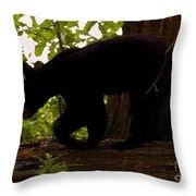 Little Black Bear Throw Pillow