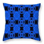 Little Blue Angels Abstract Throw Pillow