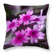 Little Blue Flowers  Throw Pillow