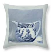 Little Blue Jug Throw Pillow