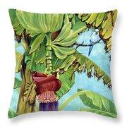 Little Blue Quaker Throw Pillow by Danielle  Perry