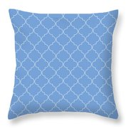 Little Boy Blue Quatrefoil Throw Pillow