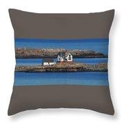Little Brewster Island Throw Pillow