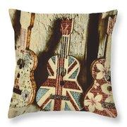 Little Britain, Big Sounds Throw Pillow