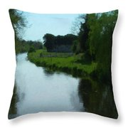 Little Brosna River Riverstown Ireland Throw Pillow
