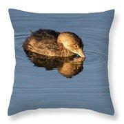 Little Brown Duck Throw Pillow