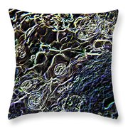 Little Bubbles In Sobel  Throw Pillow