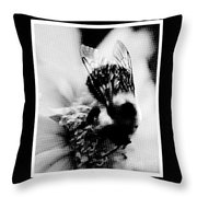 Little Bumble Bee Working For Dinner Throw Pillow