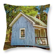 Little Cabin In The Country Pine Barrens Of New Jersey Throw Pillow