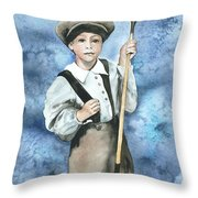 Little Caddy Throw Pillow by Kim Whitton