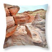 Little Castle Above Wash 3 In Valley Of Fire Throw Pillow